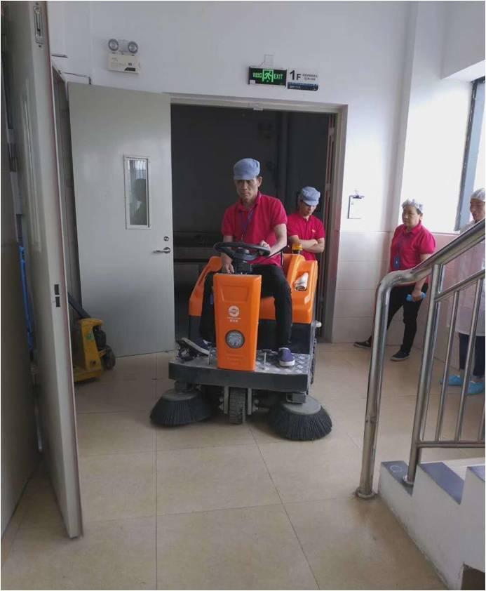 明捷清洁对区域主管进行实操培训