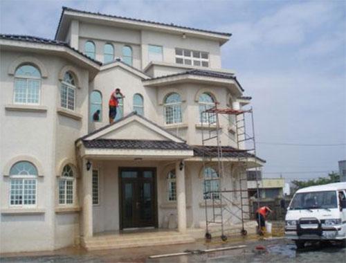 明捷别墅外墙清洗方案