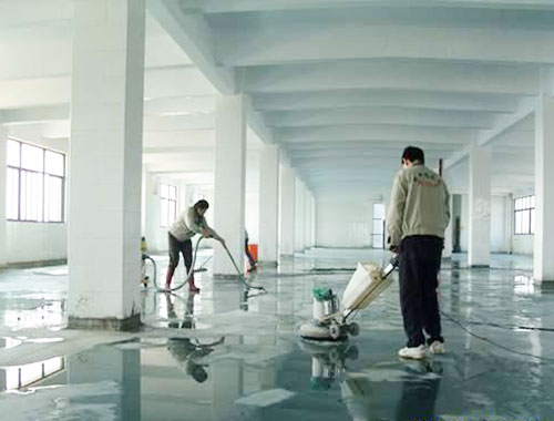 明捷清洁地面抛光打蜡方案